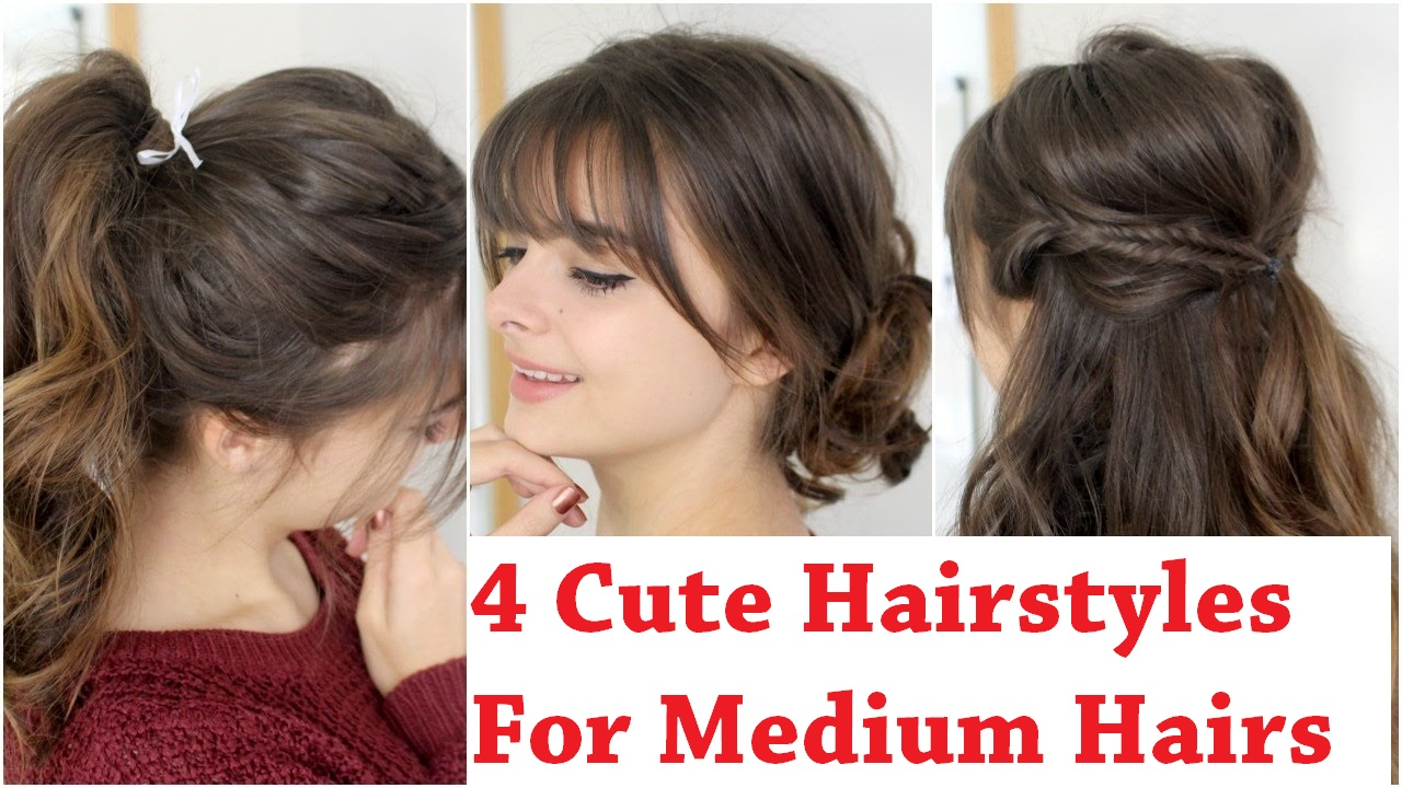 Medium Hairstyles For A Dance : Classic donut bun options cute hairstyles for