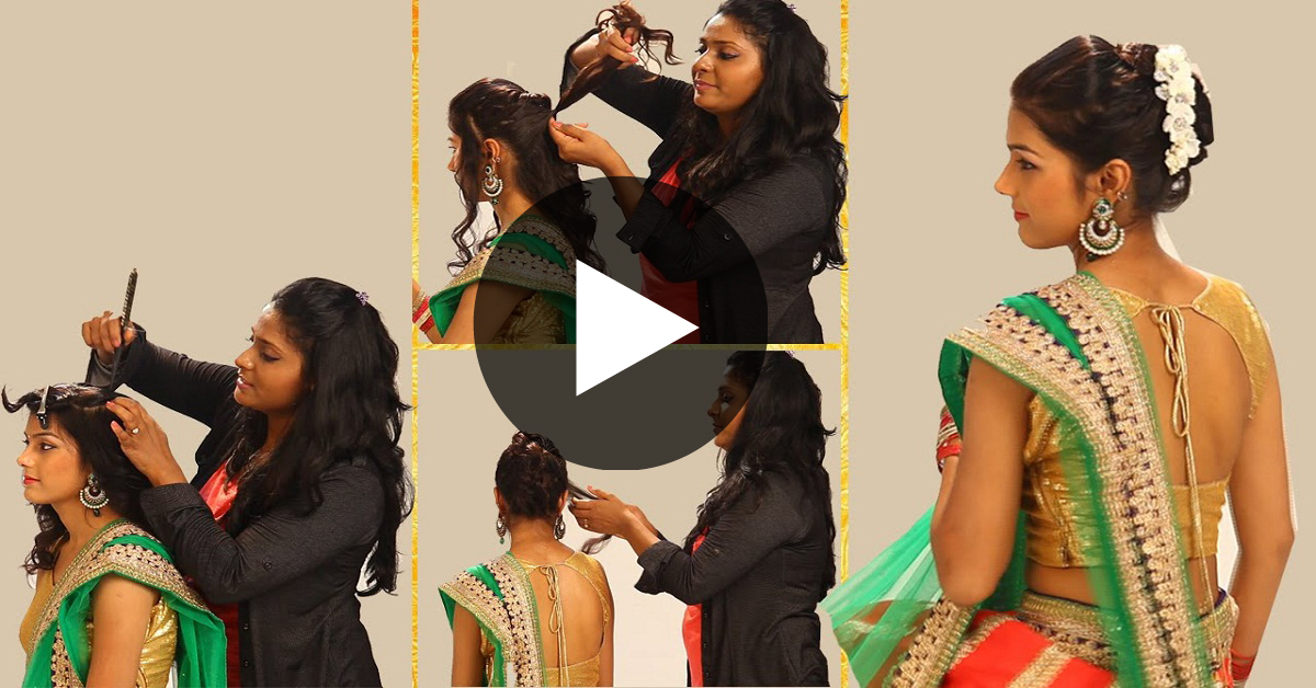 simple indian hair styles indian simple hairstyles for wedding to do yourself maxdio 4966
