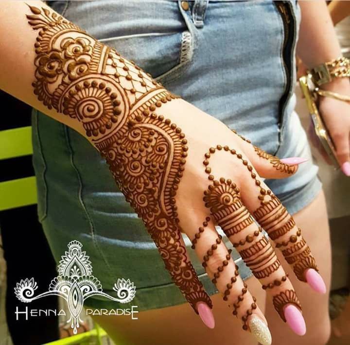 full hand mehndi designs step by step