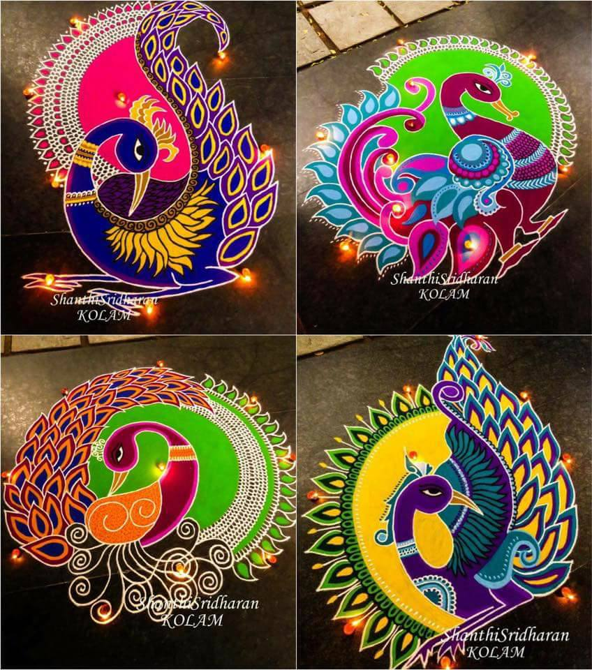 100 Most Creative Gardening Design Ideas 2018: Top 100 Creative Rangoli Designs Images You Must Try This Year