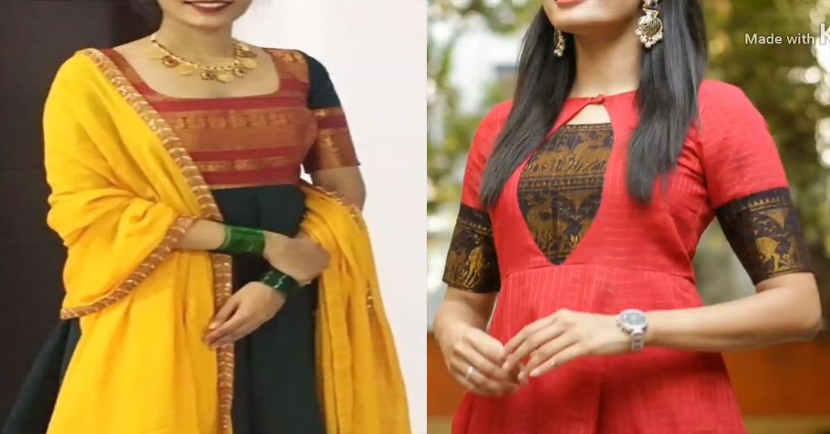 Kurti Design From Old Saree