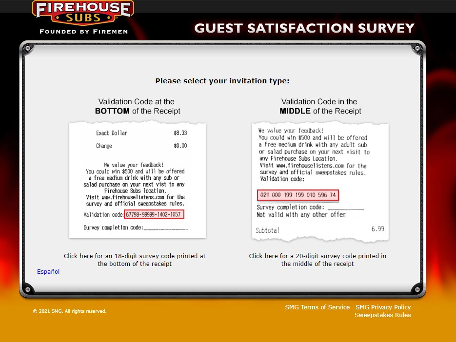 Win $500 - Official Firehouse Survey
